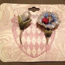 New 40 Brighton Marvels Ladybug Keyring Keychain Key Fob Flower Crystals Nwt Photo