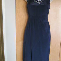 New 449 Magaschoni Collection Cocktail Business Party Women Dress Blue Sz 2 Photo