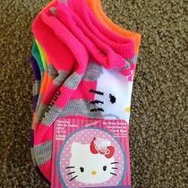New (5) Girls Hello Kitty Socks Sz. Small (Fits Sizes 4-7 1/2) Bright Colors Photo