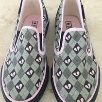 New 52 Adorable Girls Pink Heart Converse Sneakers Sz 12 Photo