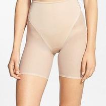 New 52 Star Power by Spanx Nude Natural Mid-Thigh Sheer Shaper Shorts Medium M Photo