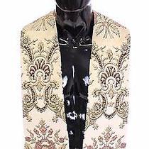 New 550 Dolce & Gabbana Scarf Stole Men's Beige Silk Jacquard Shoulder Priest Photo