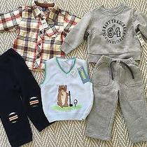 New 5p Baby Gap Old Navy Gymboree Flannel Shirt Fleece Sweatshirt Pants 18 24 M Photo