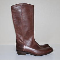 New 6.5 Us Frye Melissa Brown Leather Tall Pull-on Riding Boots Low Heel Shoes Photo