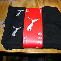 New 6 Pack Puma Crew Socks Black or Black/gray L 10-13  20 Photo