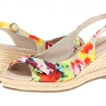 New 60 Womens Naturalizer Size 9 Floral Print Espadrilles Wedge Sandals Shoes Photo