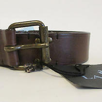 New 625 Lanvin Hinged Belt S Xs Leather Brown Spring 2011 Photo
