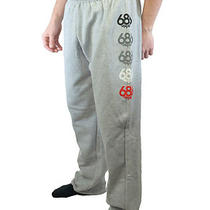 New 686 Snowboard Wreath Gray Heather & Red Mens Sweatpants Pants S Photo