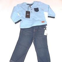 New 7 for All Mankind Seven Boys 2 Piece Set Denim Jeans 24 Months 24m Photo