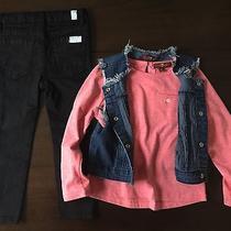 New 7 for All Mankind Stretch Twill Jeans Denim Vest Tee 3 Piece Set Sz 3t Photo