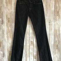New 7 for All Mankind Women's Dark Blue Wash Bootcut Classic Jeans 26 Italy Photo