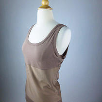New72 Yummie Tummie Taupe Brown Boyfriend Tank Shaping Top Waist Shaper L M Photo