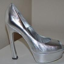 New 750 Ysl Yves Saint Laurent Palais Leather Platform Pump Shoes Sz 36.5 /6.5 Photo