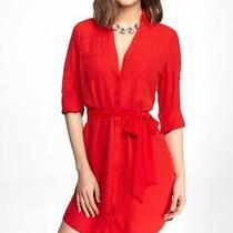 New 80 Express the Portofino Shirt Dress Tibetan Red Xs Photo