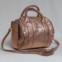 New 875 Alexander Wang Rockie Rose Gold Studs Textured Leather Messenger Bag Photo