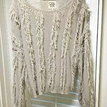 New 98.00 Chaser Fabulous Fringed Sweater Size Small Photo