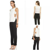 New a.l.c. Landon Crepe Tiered Colorblock Jumpsuit 12 Photo