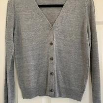 New a.p.c. Rue Madame Paris Cardigan Linen Sweater Top Small S 36  Photo