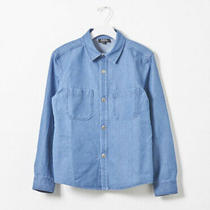 New a.p.c. Stonewashed Denim Shirt in Bleu Clair Size 38 - French Photo