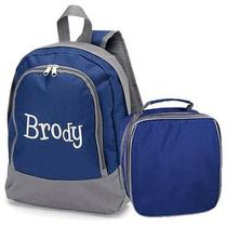 New Ababy Brody Preschool Backpack and Lunch Bag Combo Name Hudson Photo