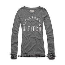 New Abercrombie & Fitch for Women  a&f Elicia Shine L/s Tee Shirt 44  Grey S Photo