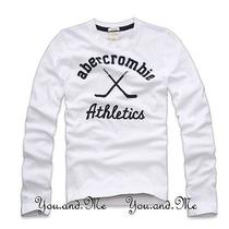 New Abercrombie & Fitch Kids  a&f Boys Varsity L/s Graphic Tee T Shirt White L Photo