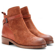 New  Acne Studios Clover Leather/nubuck Rust Color Ankle Boots Us8/eu38 560  Photo