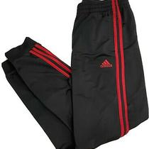 New Adidas Black and Red Stripe Track Jogger Pants Boys Size Xl 18-20 Photo