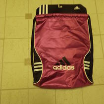 New Adidas Black/ Purple Backpack Gym Tote Bag Bookbag Photo