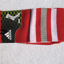 New Adidas Climalite Team Speed Basketball Crew Socks Red Sz l.9.5-12 Photo