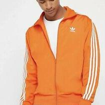 New Adidas Firebird Track Jacket Orange/ White Stripes (Ed6074) Mens Size 2xl Photo