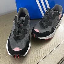 New Adidas Gray Yung-96 J Nylon Chunky Sneakers  Sz 4.5  Womens Sz 6 Photo
