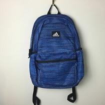 New Adidas Hermosa Mesh Backpack School Travel Laptop Gym Outdoor Bag Blue Black Photo