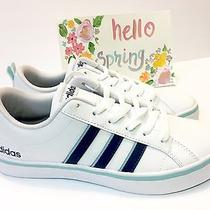 New Adidas Neo Label vs Pace W White Navy Women's Shoes Sneakers Trainers Sz 8 Photo
