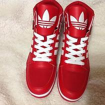 New Adidas Originals Men's Hard Court Hi 2.0 Red White Shoes Retro 2 High 12 Photo