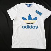New Adidas Originals Mens Oddity Trefoil Logo Tee T Shirt White Size Medium Photo