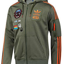 New Adidas Star Wars Rebel Xwing Military Hoodie Jacket L Photo