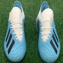 New Adidas X 19.2 Firm Ground White Blue Soccer Cleats Men's Size 9.5 F35387 Photo