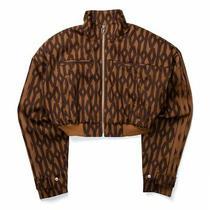 New Adidas X Ivy Park Icy Park Brown Crop Monogram Jacket Size Xs- Conf Order Photo