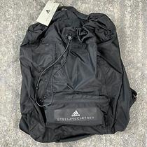 New Adidas X Stella Mccartney Gymsack Backpack Packable Bag Black 100 Photo