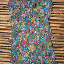 New Adorable Princess Vera Wang Ruffled Dress in Olive Multicolor Print Size 1  Photo