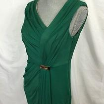 New Adrianna Papell Asymetrical Green Drape Dress Size 10 Petite 10p Womens 140 Photo