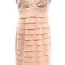 New Adrianna Papell Blush Pink Womens Size 14 Crochet Tiered Dress 140- 021 Photo