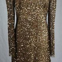 New Adrianna Papell E Live From the Red Carpet Sequined Sheath Dress Size 16 Photo