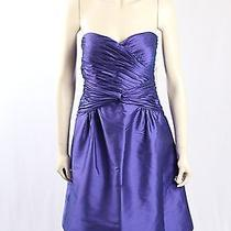 New Adrianna Papell-Size 14- Purple Strapless Cocktail Dress-rrp159.00 Photo