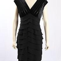 New Adrianna Papell -Size 6- Black Velvet Formal Cocktail Dress-rrp210.00 Photo
