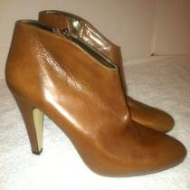New Adrienne Vittadini Adam Booties Heels Brown 6.5 6 1/2 Photo
