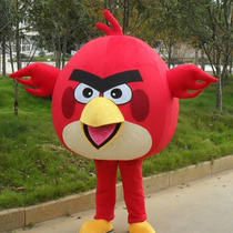 New Adult Red Angry Bird Mascot Fancy Dress Costume Photo