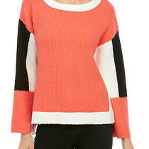 New Adyson Parker Size Small Colorblocked Oversized Fit Sweater Long Sleeve Photo