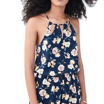New Aeropostale Navy Floral Romper Size Small S Photo